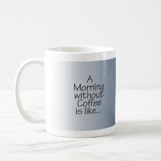 Stars on Blue Morning without Coffee Coffee Mug