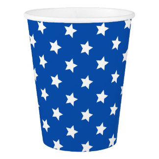 Stars on Blue Patriotic Paper Cups Paper Cup