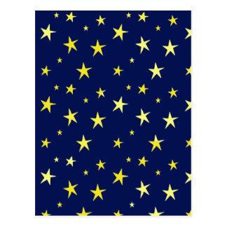 Stars on Blue Postcard