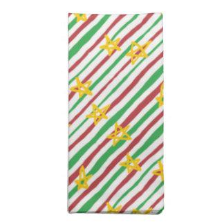 Stars on Christmas Stripes Napkin