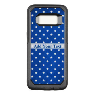 Stars on Digital Fabric Texture by Shirley Taylor OtterBox Commuter Samsung Galaxy S8 Case