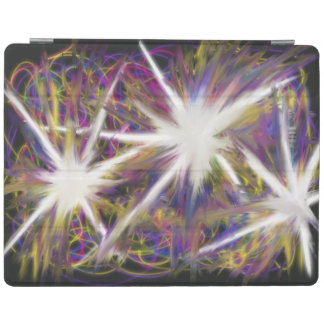 Stars on Purple Pink Yellow Abstract Art Design iPad Cover