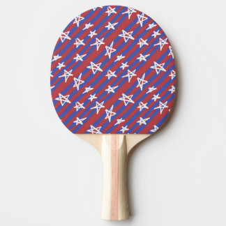Stars on Stripes Ping Pong Paddle