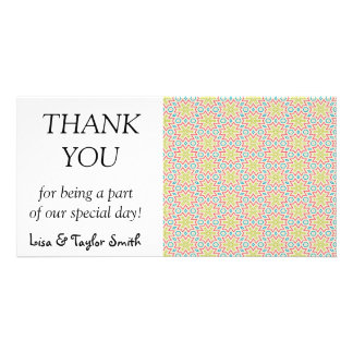 Stars pattern abstract design photo card template