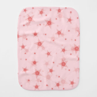 Stars pattern burp cloth