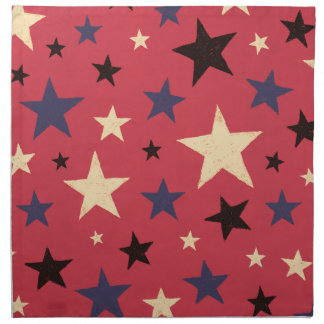 Stars Pattern Red Cloth Napkins