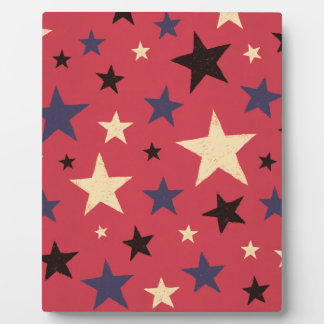 Stars Pattern Red Display Plaque
