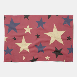 Stars Pattern Red Kitchen Towel