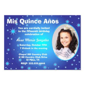 Stars Photo Quinceañera Invitation