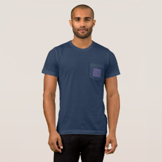 Stars Pocket Flag Back Men's T-Shirt