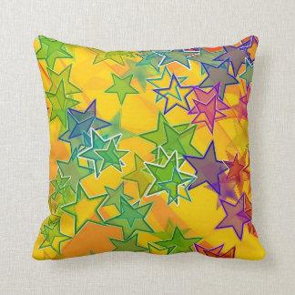 """Stars Polyester Throw Pillow, Throw Pillow 16""""x16"""""""