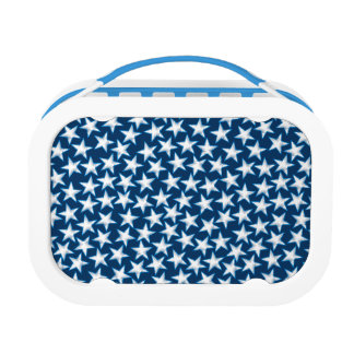 Stars printed embroidery lunch box