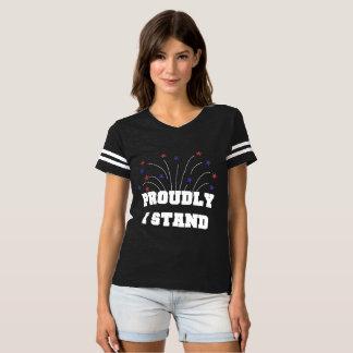 Stars Proudly I Stand Dark T-shirt