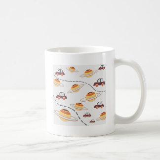 Stars, roads, and cars coffee mug