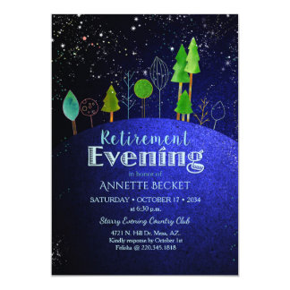 Stars Say...Starry Evening Retirement Party Card