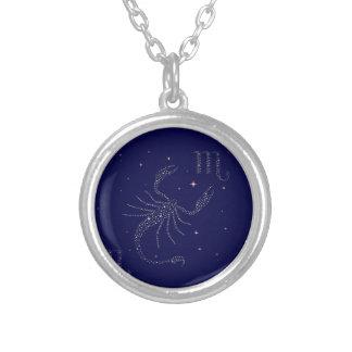 stars scorpio silver plated necklace