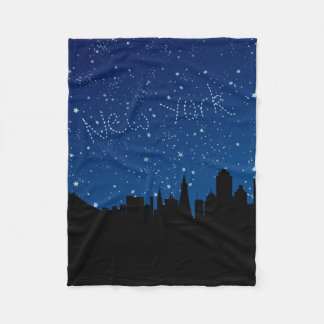 Stars, Skyline, New York Fleece Blanket