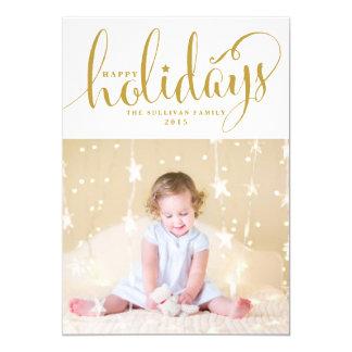 Stars & Snowflakes Happy Holidays Photo Card