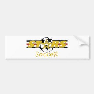 STARS Soccer Bumper Sticker