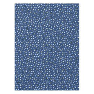 Stars Space Pattern Retro 1960s Geometric Blue Tablecloth