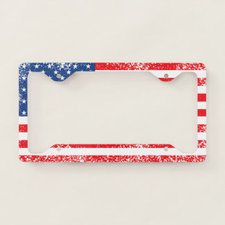 Stars &  Spangled US American Flag. License Plate Frame