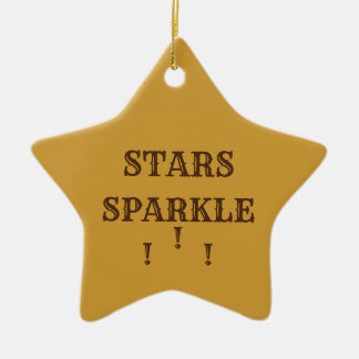 Stars Sparkle Ceramic Ornament