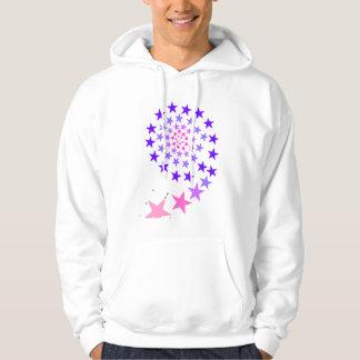 stars spiral hoodie
