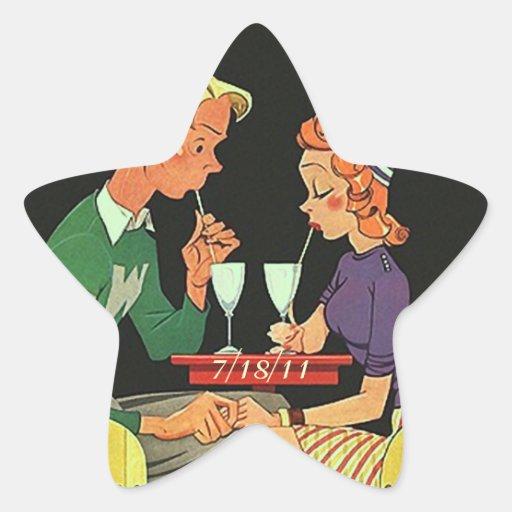 Stars Star Sticker Retro Couple Dating First Date