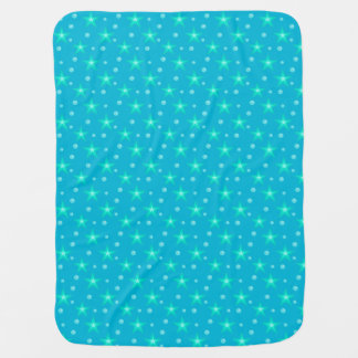 Stars Starry Bubbles Blue Mermaid Fantasy Nautical Baby Blanket