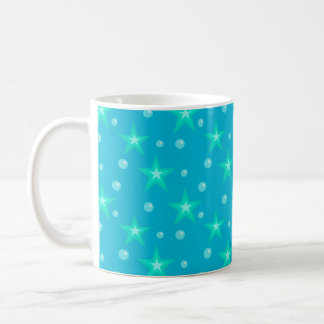 Stars Starry Bubbles Blue Mermaid Fantasy Nautical Coffee Mug