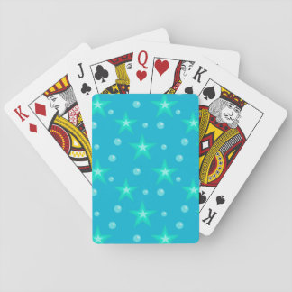 Stars Starry Bubbles Blue Mermaid Fantasy Nautical Playing Cards
