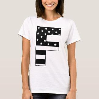 stars stripe letter F T-Shirt