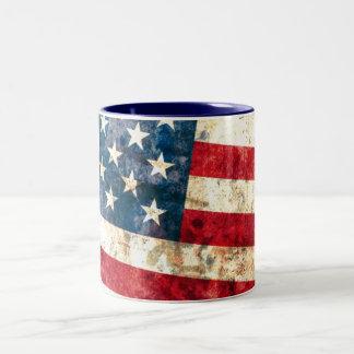 Stars & Stripes #2 - 11 oz Two-Tone Coffee Mug