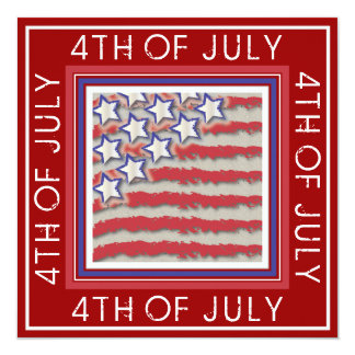 Stars & Stripes 4th of July Party Invitation