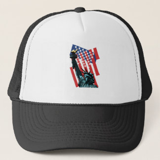 Stars, stripes and liberty trucker hat