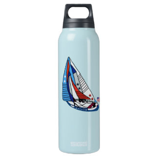 Stars Stripes and Sails Insulated Water Bottle