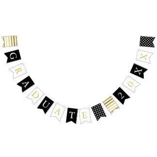 Stars & Stripes | Black White Gold | Graduate Bunting Flags