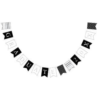 Stars & Stripes | Black White Silver | Graduate Bunting Flags