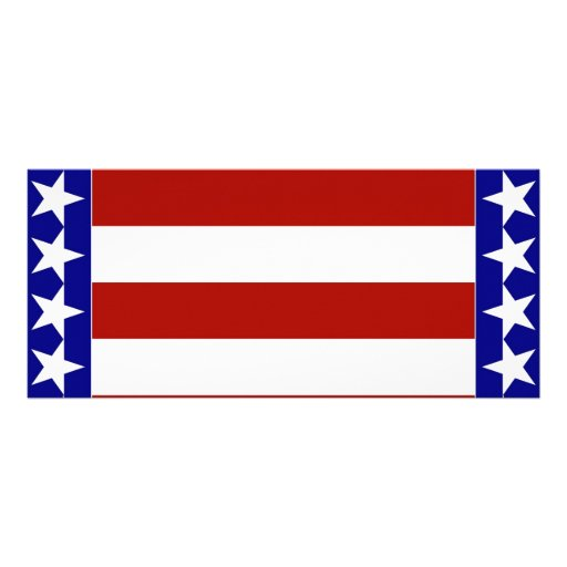 Stars & Stripes of Red White And Blue Personalized Rack Card
