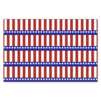 Stars & Stripes of Red White And Blue Tissue Paper