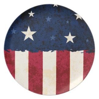 Stars & Stripes Patriotic Plates