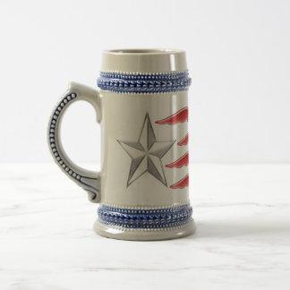 Stars & Stripes Tall One Stein 18 Oz Beer Stein