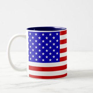 Stars & Stripes Two-Tone Coffee Mug