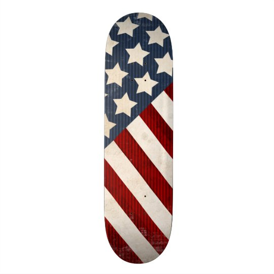 Stars & Stripes USA Red White Blue Skateboard
