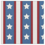 Stars & Stripes vertical red white blue Fabric