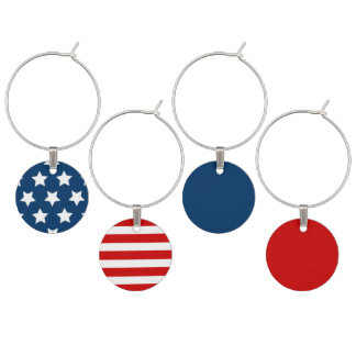 STARS & STRIPES WINE CHARMS SET