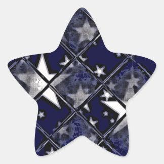 STARS THROUGH GLASS STAR STICKER