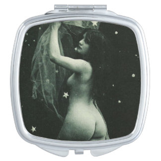 Stars Vintage French Erotica Sexy Nude Pin-Up Girl Makeup Mirror