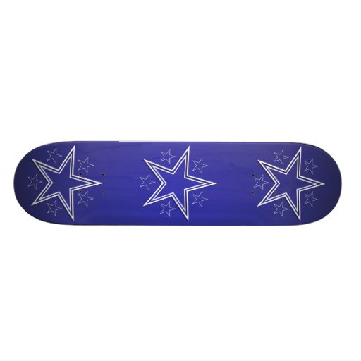 Stars White Navy Skate Board Deck