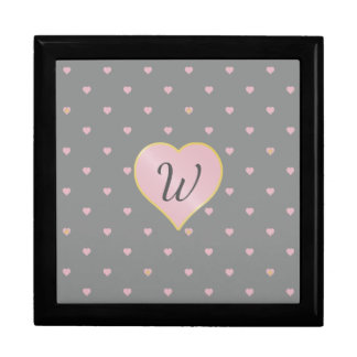 Stars Within Hearts on Gray Tile Box